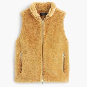 J crew plush fleece excursion vest medium e1535
